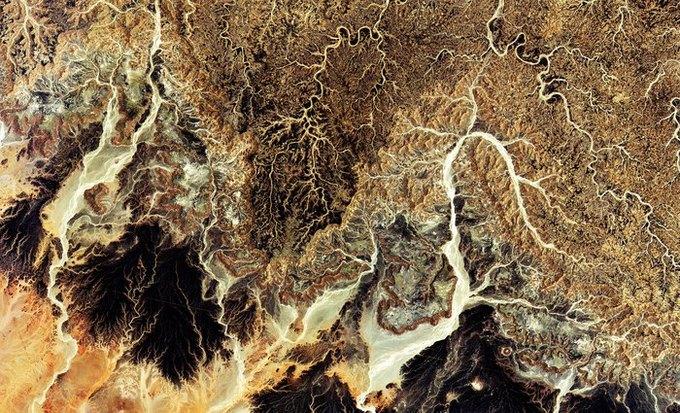 Фото: Алжирская пустыня из космоса . Изображение № 1.