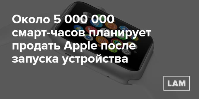Число дня: сколько Apple Watch планируют продать после запуска. Изображение № 1.