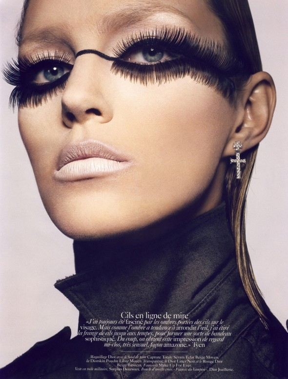 Anja Rubik for Vogue Paris (Beauty Editorial). Изображение № 4.