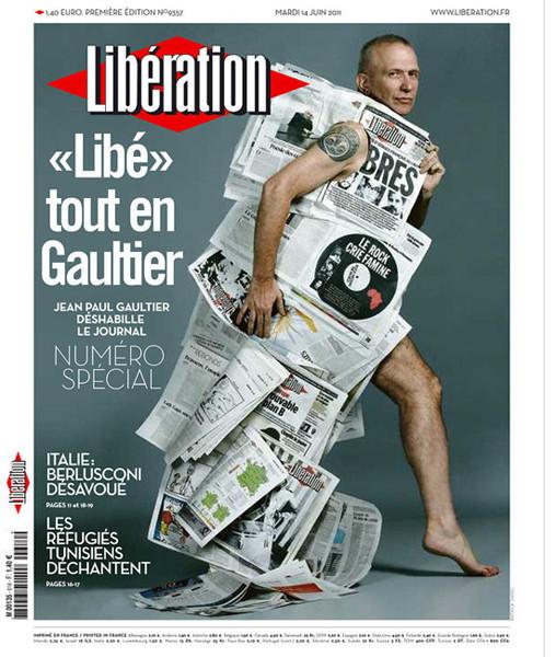 Изображение 2. Жан-Поль Готье стал приглашённым редактором Liberation.. Изображение № 1.