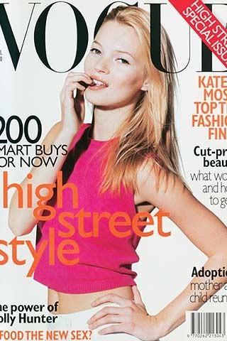 Кейт Мосс на обложках vogue. Изображение № 29.