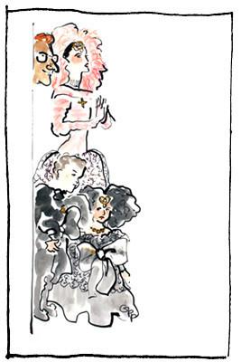 Фэшн-иконы вкарандаше ипастели. Изображение № 26.