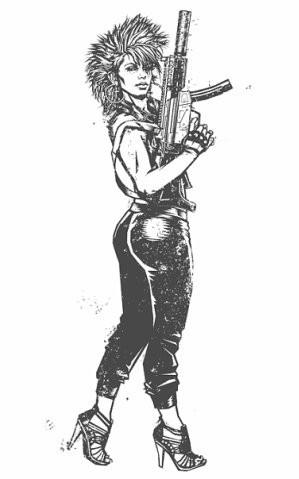 Девушки с оружием от Frank Barbara. Изображение № 4.