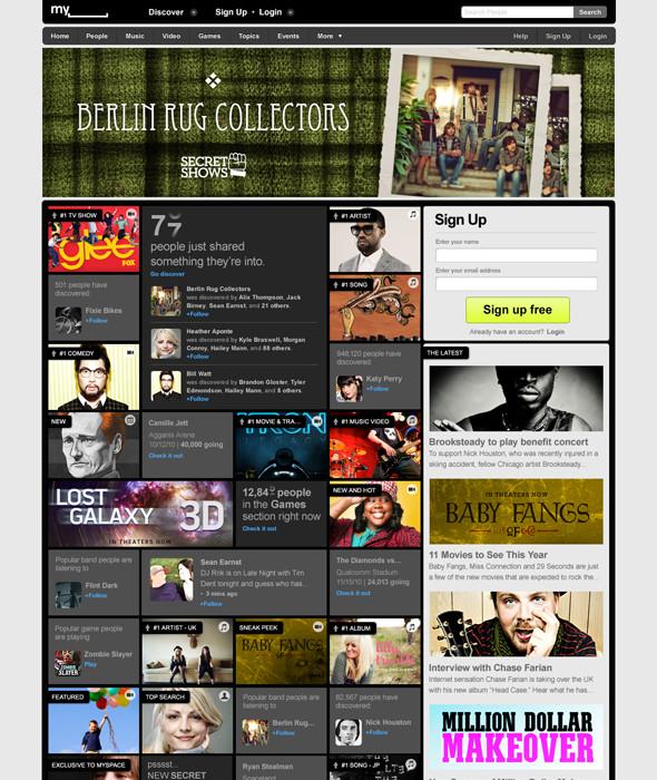 Новый Myspace. Изображение № 1.