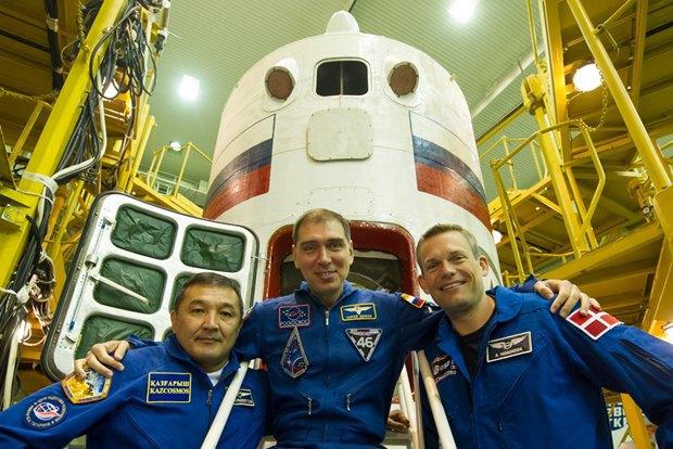 На МКС отправили Сергея Волкова и ещё двух космонавтов. Изображение № 1.
