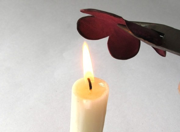 Изображение 3. Брошь-цветок из натуральной кожи.. Изображение № 2.