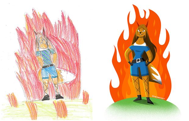 Художники создали монстров наоснове детских рисунков. Изображение № 36.