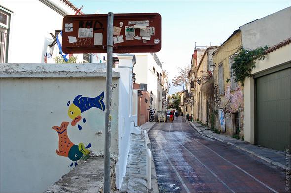 Стрит-арт и граффити Афин, Греция. Часть 2. Изображение № 33.