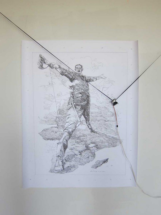 Робот рисует за художника его картины. Изображение № 1.