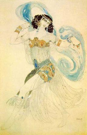 Эскиз костюма Саломеи для одноимённого балета Дягилева, Леон Бакст. Изображение № 27.