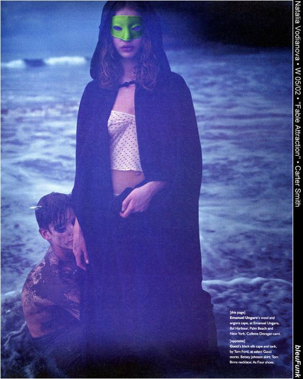 Архивная съёмка: Наталья Водянова для W, 2002. Изображение № 9.