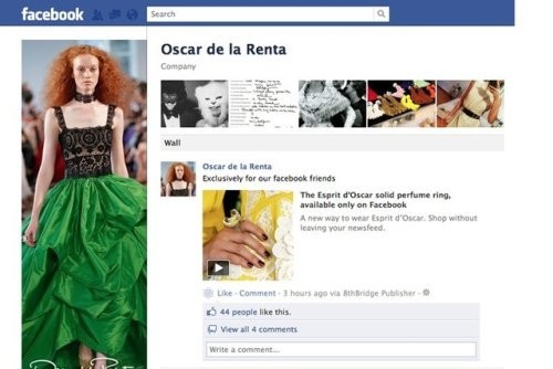 Страница Oscar de la Renta в Facebook. Изображение №3.