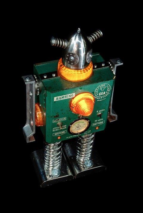 Фото: забавные роботы из промышленного мусора . Изображение № 15.