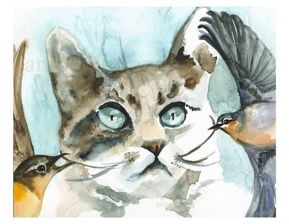 Изображение 13. Amber Alexander - животные, сияющие акварелью.. Изображение № 13.