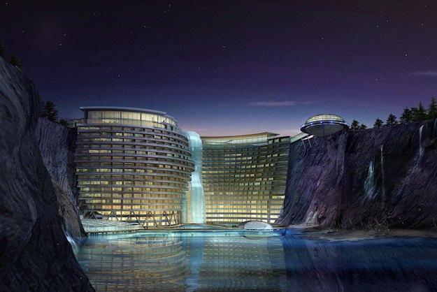 В Китае строят грандиозный отель в скалистой пещере. Изображение № 3.