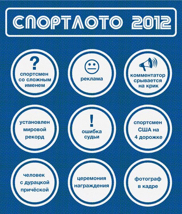 Спортлото-2012: Настольная игра по мотивам олимпийских трансляций . Изображение № 3.