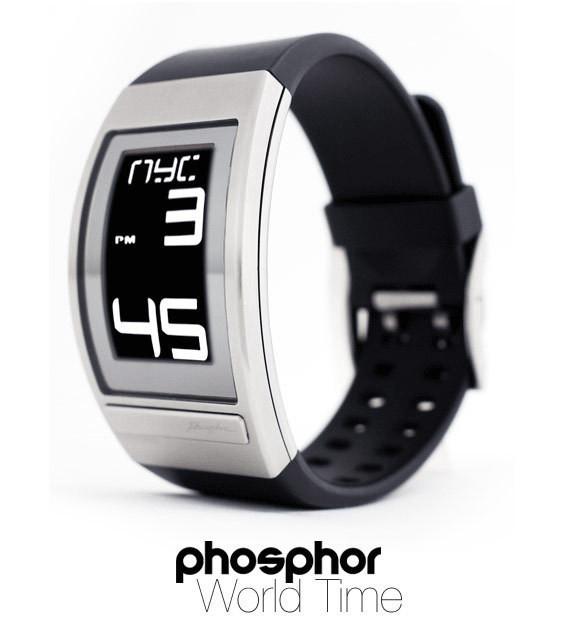Изображение 42. Часы Phosphor WORLD TIME с дисплеем из электронной бумаги.. Изображение № 1.
