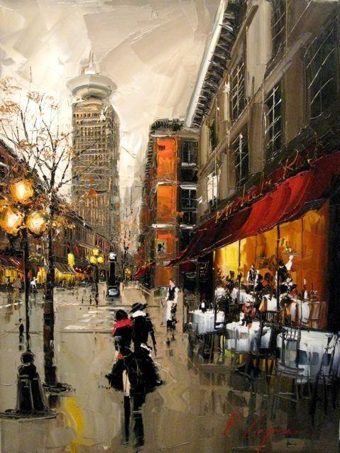 Красные зонтики художника Kal Gajoum. Изображение № 11.