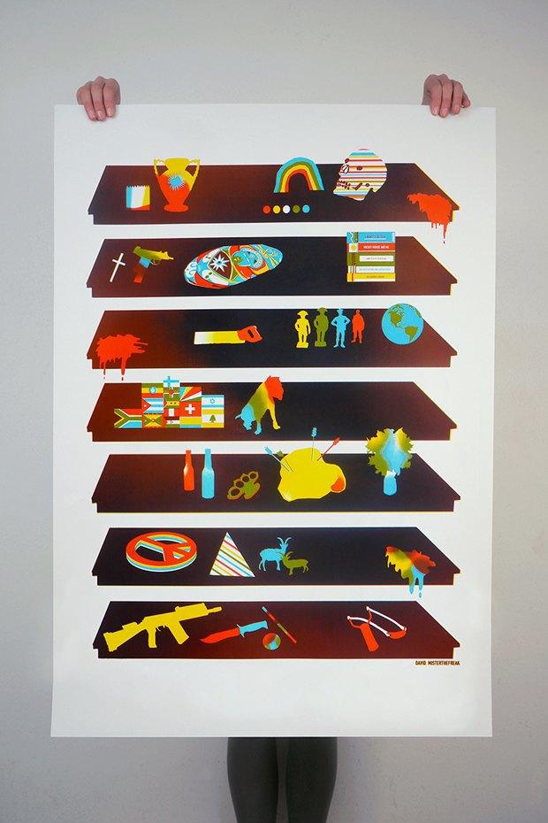 50 постеров, которые вдохновляют заняться шелкографией. Изображение № 25.