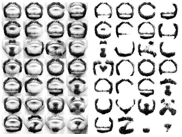 Дизайнер выбрил все буквы алфавита на бороде. Изображение № 1.