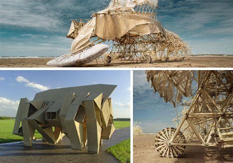 Видео – Кинетические скульптуры Theo Jansen. Изображение № 1.