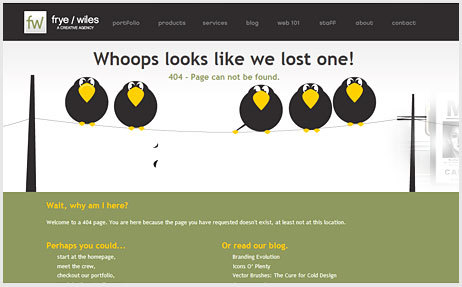 20 Интересных оформлений страницы ошибки 404. Изображение № 13.
