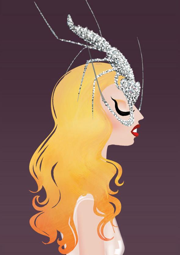 Иллюстрации образов Lady Gaga от Adrian Valencia. Изображение № 2.
