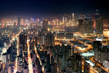 Мегаполисы ночью Гонконг, Дубаи, Нью-Йорк, Шанхай. Изображение № 8.