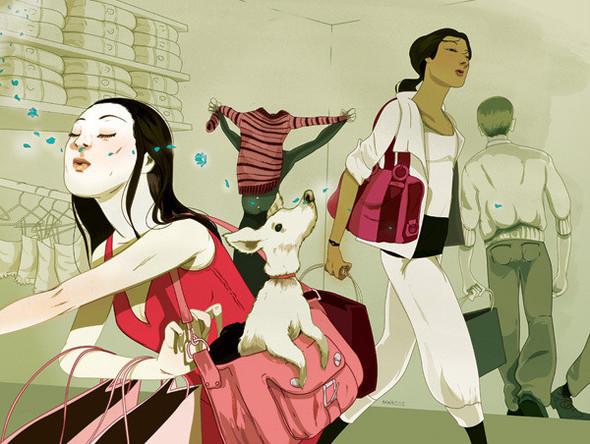 Рисунки американского иллюстратора Марко Шина.. Изображение № 29.