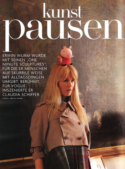 Claudia Schiffer for Vogue Germany (November 2009). Изображение № 1.