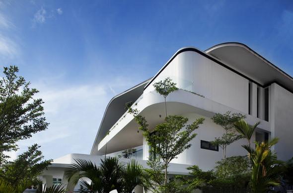 «Трехпалубная» вилла от Aamer Architects. Изображение № 1.