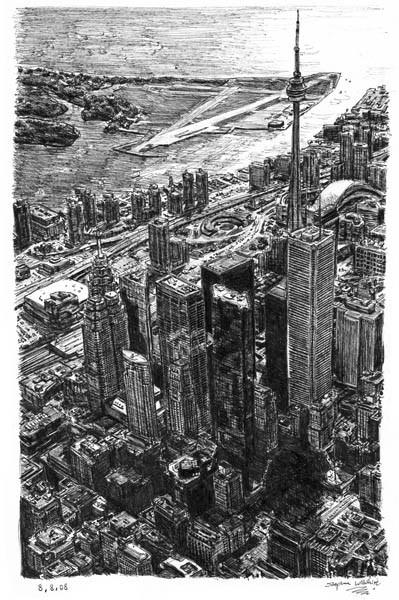 Стивен Вилтшер. Художник рисующий панорамы городов по памяти. Изображение №10.