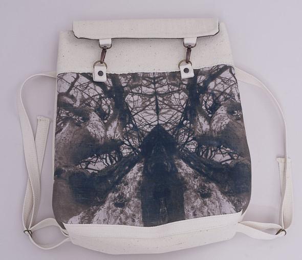 БЕЛОЕ — рюкзаки и сумки из грубого белого хлопка. Изображение № 5.