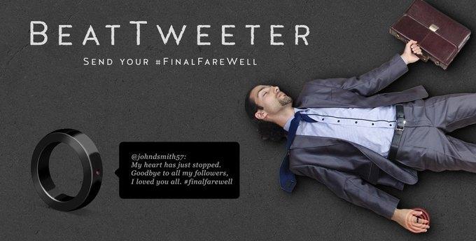 Кольцо, которое сообщает о вашей смерти в Twitter в случае остановки сердца. Изображение № 1.