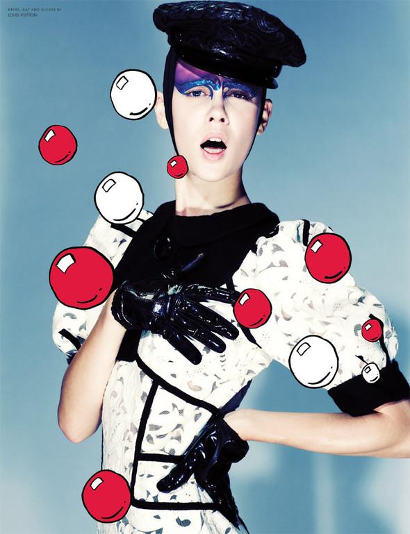 Съёмка: Марике Ле Ру в Louis Vuitton для 10. Изображение № 5.