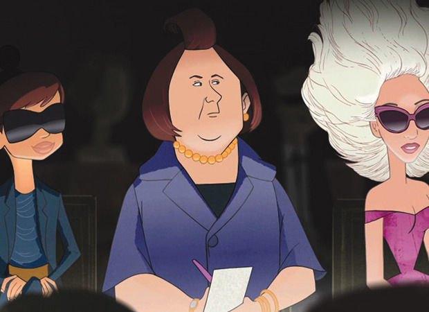 Нарисованная Сьюзи Менкес в мультфильме Disney для Barneys. Изображение № 48.