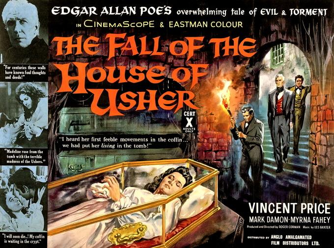 Постер «Падения дома Ашеров» (1960). Изображение № 1.