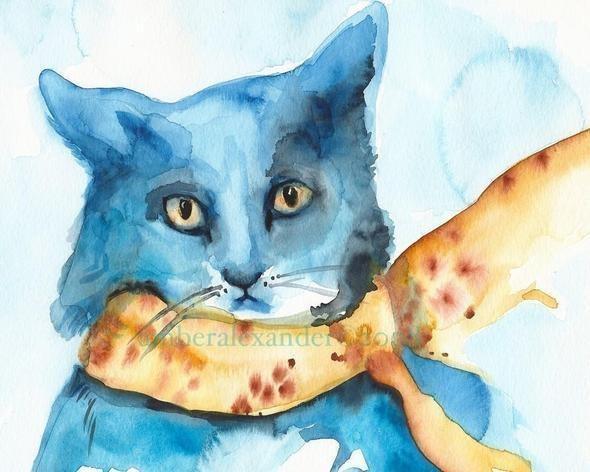 Изображение 22. Amber Alexander - животные, сияющие акварелью.. Изображение № 22.