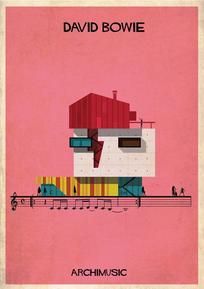 Испанский архитектор превратила песни в здания для новой серии плакатов . Изображение № 11.