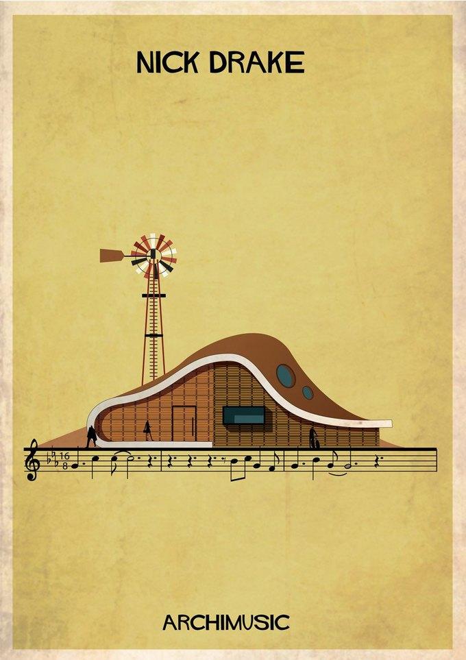 Испанский архитектор превратила песни в здания для новой серии плакатов . Изображение № 17.