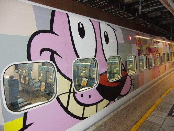 На Тайване запустили поезд в виде Джейка из «Времени приключений». Изображение № 5.
