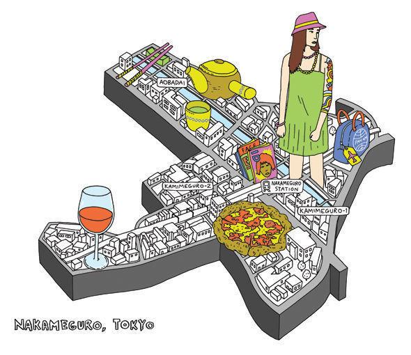 Карта района Накамегуро (Токио). Изображение № 1.