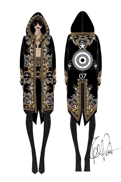 Рикардо Тиши создал концертные костюмы Рианны. Изображение № 1.