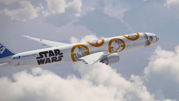 Авиакомпания показала перекраску самолёта под R2-D2. Изображение № 5.