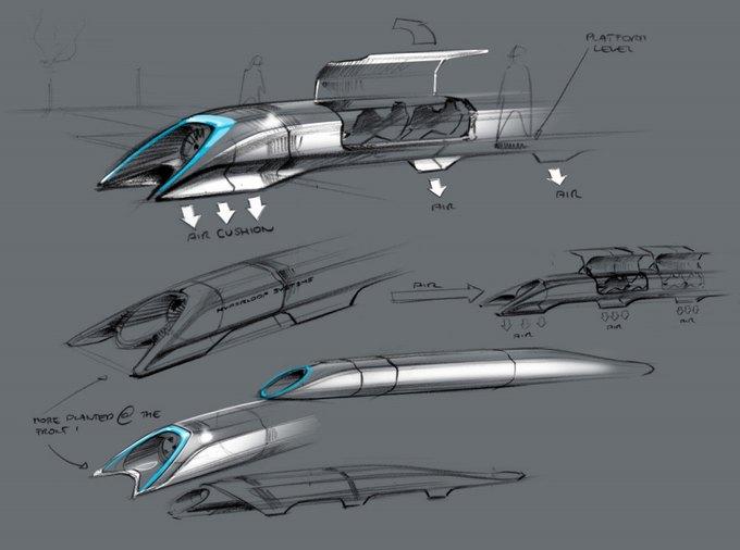 Элон Маск представил новый сверхскоростной транспорт. Изображение № 1.