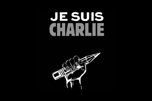 Логотип приложения Je Suis Charlie, в котором размещали информацию о мероприятиях в поддержку Charlie Hebdo. Изображение № 1.
