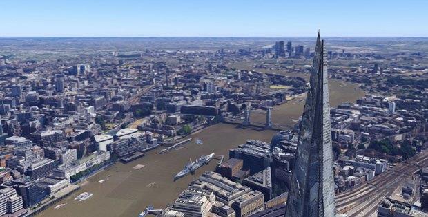 В Google Earth появилась 3D-версия Лондона. Изображение № 2.
