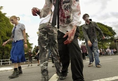 ВоФранкфурте прошел парад зомби. Изображение № 12.