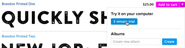 MyFonts позволил скачать любой шрифт. Изображение № 1.