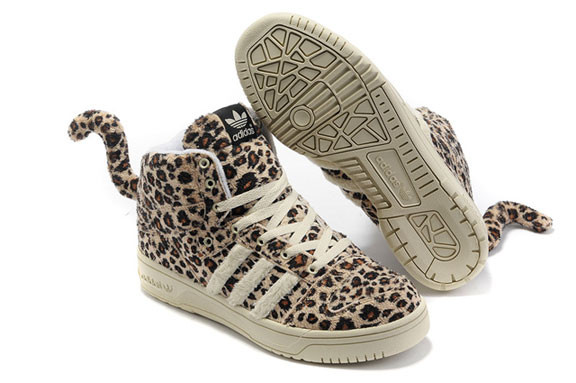 Adidas JS Leopard Tail High Top Shoes. Изображение № 1.
